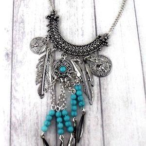 Jewelry - Boho Gypsy Turquoise Necklace